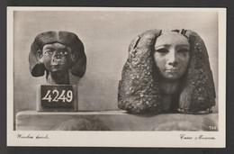 Egypt - Rare - Vintage Post Card - Woden Heads - Cairo Museum - Briefe U. Dokumente