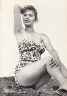 Sophia Loren, 'Too Bad She's Bad' Film Swimsuit Pin-up Image, C1950s Vintage Postcard - Pin-Ups