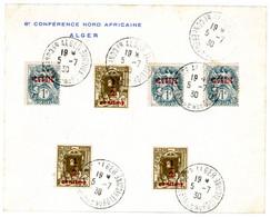 ALGERIE ENV 1930 ALGER 6EME CONFERENCE NORD AFRICAINE ENVELOPPE A ENTETE - Cartas