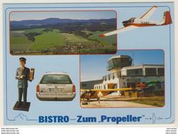 AK  Flughafen Verkehrslandeplatz Eisenach Hörselberg Bistro Zum Propeller_  Ansichtskarte _ Normalformat - Aerodrome