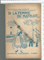 CC / Partition Ancienne MUSIQUE Artiste @@ SI LA FEMME DU MATELOT @@ - Partitions Musicales Anciennes