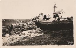 T16-29) BRIGNOGAN (FINSTERE) COTE SAUVAGE ET LE PHARE DE PONTUSVAL - ( OBLITERATION DE 1949 - 2 SCANS ) - Brignogan-Plage