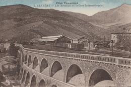T16-66) CERBERE (COTE VERMEILLE)  LES ARCEAUX DE LA GARE INTERNATIONALE - ( 2 SCANS ) - Cerbere