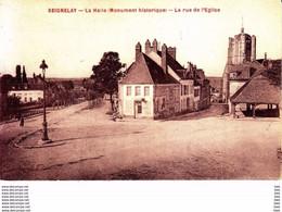 89.  Yonne :  Seignelay : La Halle : La Rue De L ' église . - Seignelay