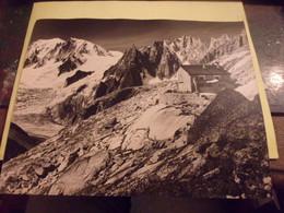 CIRCA 1970 CLICHE PEAU D ANE SKI ET ALPINISME  25/30CM   HAUTE SAVOIE REFUGE DU COUVERCLE - Places