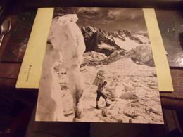 CIRCA 1970 CLICHE PEAU D ANE SKI ET ALPINISME  25/30CM   GLACIER HOMME PORTEUR - Sports