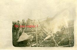 CARTE PHOTO ALLEMANDE DU IR 30 - AVION ABATTU A LOCALISER - OFFENSIVE DE MARS 1918 AISNE - OISE - GUERRE 1914 1918 - Guerra 1914-18