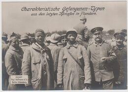 Charakteristische Gefangenen-Typen Aus Den Letzten Kämpfen In Flandern Paul Hoffmann & Co Berlin-Schöneberg - War 1914-18