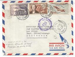 PA 100FR+N° 979 + 10FR LETTRE COVER AVION PARIS 128 21.3.1955 POUR GUATEMALA AU TARIF - 1921-1960: Moderne