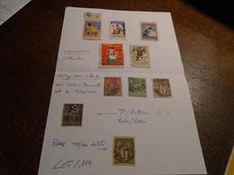 SAGE TP/ Differents  ( 1 Non Dentelé +1 PERFOREE + 3 OBL/ Des IMPRIMES +5 VIGNETTES  )+6 Photos Recto*/VERSO - 1876-1898 Sage (Type II)