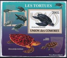 D - [38701]TB//**/Mnh-Comores 2009 - BL1495, Bloc Spécial, Animaux & Faune, Reptiles & Batraciens, Les Tortues. - Tartarughe