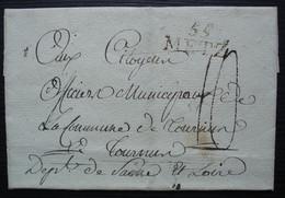 55 METZ  Marque 24 X 12 Sur Lettre Pour Tournus, Sans Date Ni Correspondance - 1801-1848: Precursores XIX