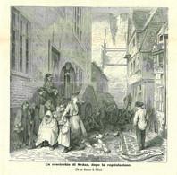 INC 08 - LA GUERRA FRANCO TEDESCA DEL 1870-71 - UN CROCICCHIO DI SEDAN DOPO LA CAPITOLAZIONE - Stampe & Incisioni