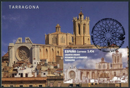 ESPAÑA SPAIN ESPAGNE (2020) - Carte Maximum Card Tarragona Patrimonio Humanidad UNESCO World Heritage Cathedral Catedral - Maximum Kaarten
