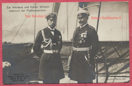 "Tsar Nicolas II Et Kaiser Guillaume II Lors Manoeuvres Navales "" Zar Nikolaus U. Kaiser Wilhelm W. Flottenmanöver "" 1909 - Case Reali"