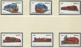 KENIA / MiNr. 703 - 708 / Lokomotiven / Postfrisch / ** / MNH - Trenes