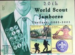 Uganda 2003 Scouts Sheetlet MNH - Uganda (1962-...)