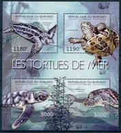 [32525]SUP//**/Mnh-c:19e-BURUNDI 2012 - Les Tortues Marines, Faune Marine - Tartarughe