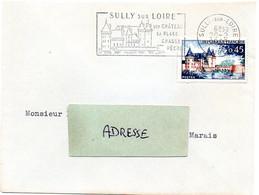 CHATEAU = 45 SULLY Sur LOIRE 1963 = FLAMME  CONCORDANTE N° 1313 =  SECAP  Illustrée ' CHATEAU ' - Mechanical Postmarks (Advertisement)
