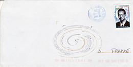 Enveloppe DJIBOUTI 2008 Timbre 165Fdj Mahamoud Harbi Pour La France - Dschibuti (1977-...)