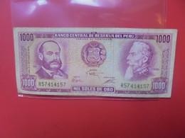 PEROU 1000 SOLES 1975  Circuler (B.20) - Pérou