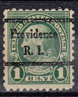 USA Precancel Vorausentwertung Preo, Bureau Rhode Island, Providence 581-44 - Preobliterati