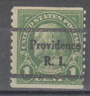 USA Precancel Vorausentwertung Preo, Bureau Rhode Island, Providence 597-44 - Preobliterati