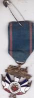 Militaria Médaille France - Chemins De Fer - Motif Drapeau En émail - Modèle Rare - France