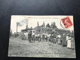 PIONSAT Les Travaux De La Ferme. La Batteuse - 1909 Timbrée - France