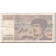 France, 20 Francs, Debussy, 1997, B+, Fayette:66 Ter.2, KM:151i - 1962-1997 ''Francs''