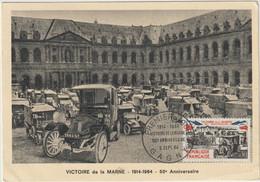 Victoire De La Marne 1914-1964  -- 50è Anniversaire- Voitures Anciennes-(D.9450) - Non Classificati