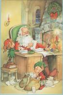 CPM:  Illustrateur  K.  ODENWELLER :  Lecture Du Courier Par Le Pére Noël Et Ses Lutins (format 105 X 160)  (G473) - Ohne Zuordnung