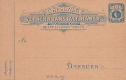 Entier Neuf Poste Privé Dresde  2 Ppf - Privé
