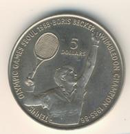 NIUE 1987: 5 Dollars, Becker Tennis Olympic Games Seoul, KM 1 - Niue