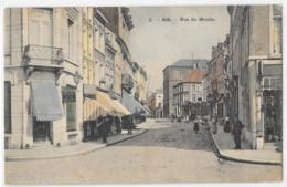 Ath : La Rue Du Moulin, En Couleur, Envoyée à Constantinople - Ath