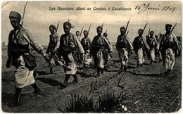 MAROC CASABLANCA Les Goumiers Allant Au Combat - Casablanca
