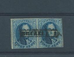 N°11 EN PAIRE GRIFFE BRUXELLES - 1858-1862 Médaillons (9/12)