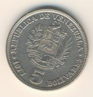 VENEZUELA 1977: 5 Bolivares, Y# 53 - Venezuela