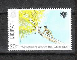 Kiribati   -   1979.  Ragazzo Su Palma : Raccolta Noci. Boy On Palm Tree: Picking Nuts. ;NH - Alimentación