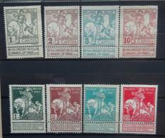 BELGIE 1910   Caritas  Nr. 84 - 91   Spoor Van Scharnier *   CW 35,00 - 1910-1911 Caritas