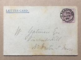 GB Victoria 1899 Lettercard Ilfracombe To Weston Super Mare - Covers & Documents