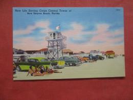 Auto's On Beach-- Life Saving Corps Control Tower  New Smyrna Beach - Florida >    > Ref 4406 - United States