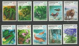 KOREA South Mint Stamps MNH (**), Flora And Fauna, 5 Sets - Corea Del Sud