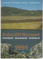 1991 ** GREENLAND (Sans Charn,MNH, Postfris) YEAR PACK   Yv. 199/210 Mi. 211/222 (12v.) - Komplette Jahrgänge