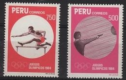 JO84/E93 - PEROU 2 Val. Neufs** Jeux Olympiques 1984 - Peru