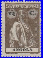 Angola 1921. ~  YT 210*  - 12 C. Cérès - Angola