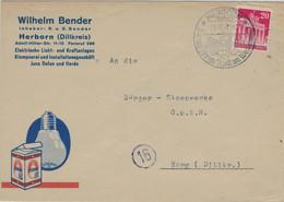Brandenburger Tor - Illustrierter Umschlag Wilhelm Bender Osram - Herborn Dillkreis Westerwald 1948 - Covers & Documents