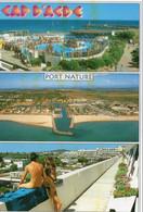Cap D'Agde Belle Multi-vues Animée Port Nature Nus Seins Nus Naturiste - Agde