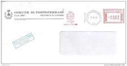 ITALIA - 2002 Comuni D'Italia: PORTOFERRAIO (LI) - Stemma: NAVE SUL MARE - Ema Affrancatura Meccanica Rossa Red Meter - Marcophilie - EMA (Empreintes Machines)