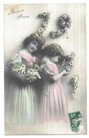 Grete Reinwald Et Sa Soeur Bonne Année 1911 - Abbildungen